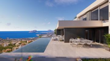 A beautiful 3 bedroom villa with sea view in Benitachell
