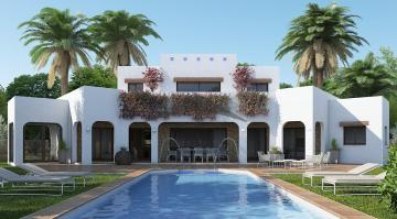 Project of a 4 bedroom Ibiza style villa in Moraira