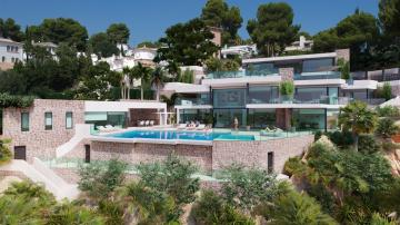 New project of a front line villa in Moraira with direct private access to the beach!